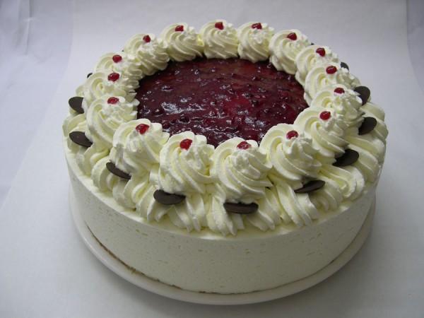 Preiselbeere-Vanille-Torte